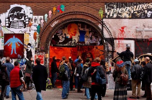 street art at 11 spring street new york, ny